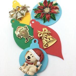 Christmas Brooch Bundle